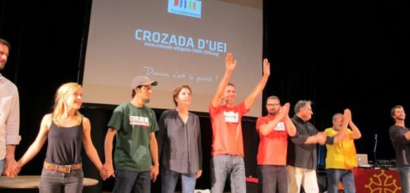 L'équipe artistique de Crozada d'Uei. (photo MN)