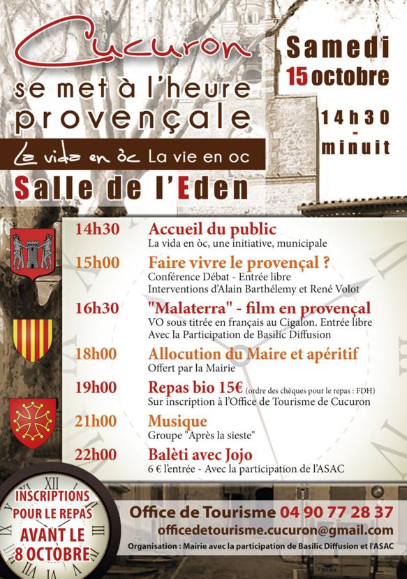 Cucuron à l'heure de la culture occitane
