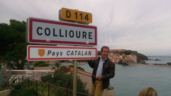 Le maire de Collioure, Jacques Manya, précise où se trouve sa commune, des fois que... (photo XDR)