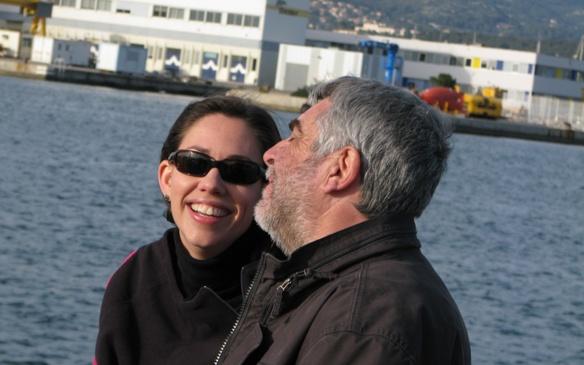 Avec Liza en tournage à La Seyne en 2009 (photo MN)