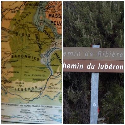 Carte scolaire Hatier des montagnes du Midi, 1954, et signalétique locale contemporaine