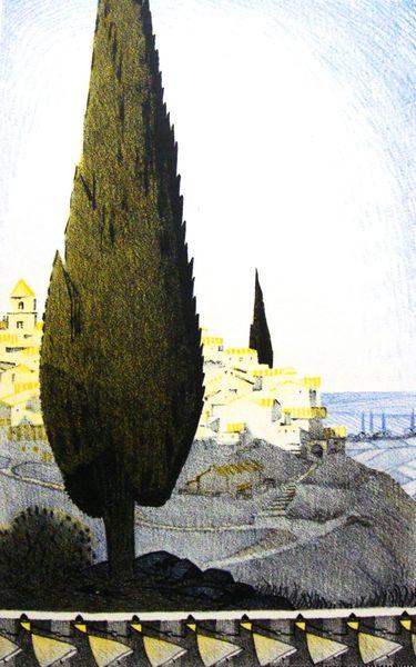 illustration de Lelée pour Louange du cyprès de Gabriel Boissy (1928)