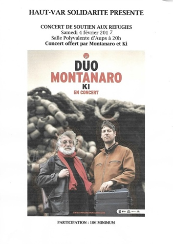 Montanaro offre un concert au bénéfice des réfugiés