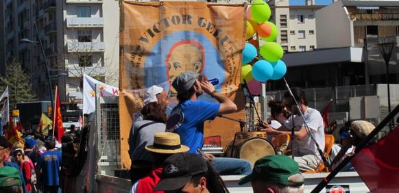 Prises de paroles et activités plus marquées par le militantisme occitan ? Ici lors de la manifestation de mars 2012, pour l'occitan dans la vie publique, à Toulouse(photo MN)