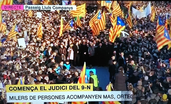Lundi 6 février vers 10h à Barcelona. Image TV3 DR.