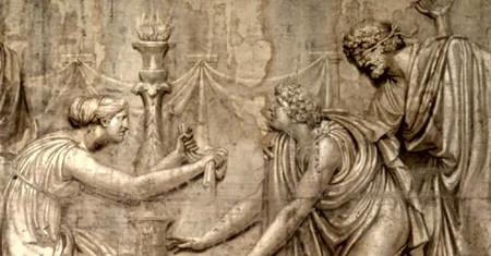 Une commande de 1794, pour un temple jamais bâti. L'ensemble de six toiles (sur huit à l'origine) doit être prêt pour une exposition à Arles à l'automne 2017 (photo XDR)