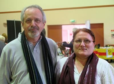 Reinat Toscano, l'auteur, et Jaumèto Ramel, l'interprète, réunis à la récente Librejado du Félibrige, à Trets (photo MN)