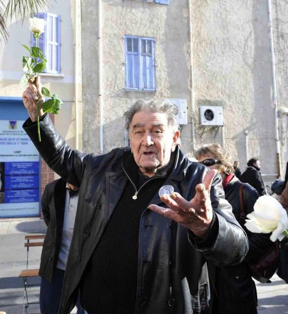 Armand Gatti à La Seyne, dix décembre 2011 (photo Service Communication La Seyne DR)