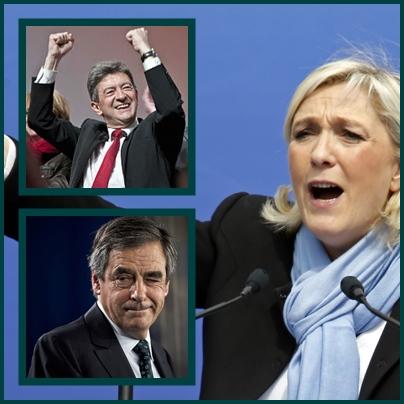 Selon les pays ce sont les trois ténors de l'élection présidentielle en Provence, Macron ne fait pas ici partie du trio de tête (photo XDR)