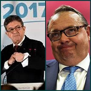 """Jean-Luc Mélenchon et Patrick Menucci. Le premier veut effacer le PS, le second estime que le leader de la France Insoumise est un """"candidat nomade qui craint d'affronter droite et extrême droite"""" (photo XDR)"""