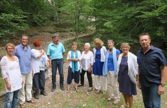 Boulegadis à Lure le 23 juin. D'abord un groupe d'amis qui voulaient partager des chants occitans, corses et italiens  (photo MN)