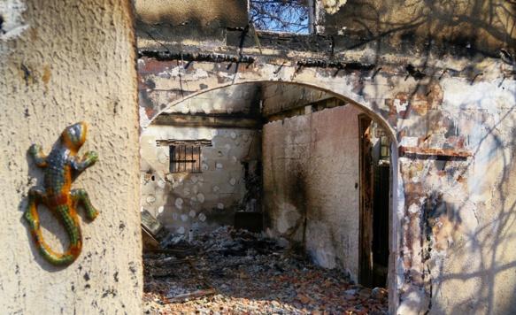 Saint Cannat, villa sinistrée le 15 juillet au Chemin à la mer (photo MN)