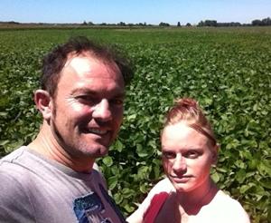 Erci e Natacha volián un domèni per una agricultura diferenta (photo XDR)