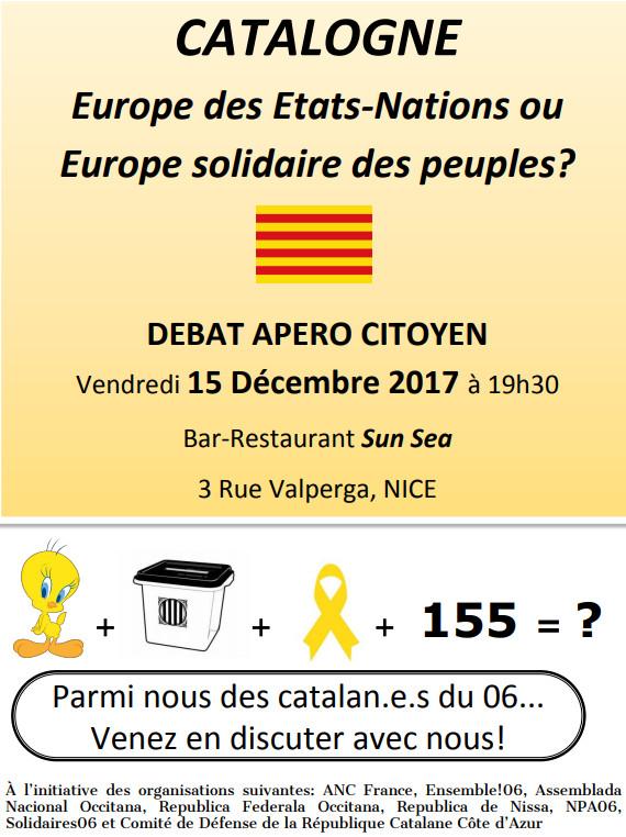 En débat à Nice vendredi : Catalogne et valeurs européennes