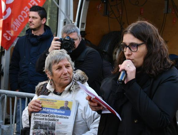"""Emilie Parente est secrétaire de la CGT du journal La Marseillaise : """"le projet d'information en proximité dépend d'un nombre conséquent de journalistes"""" (photo Mohammed El Hamzaoui DR)"""