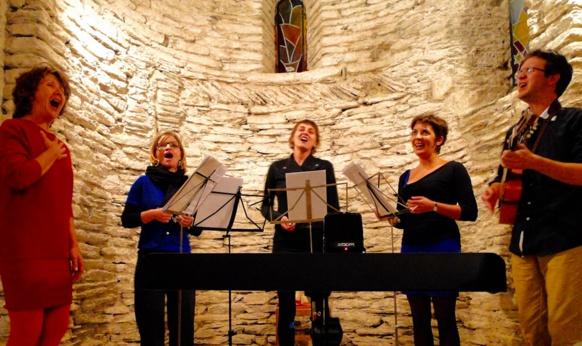 Lors de l'enregistrement en Cévennes (Photo XDR)