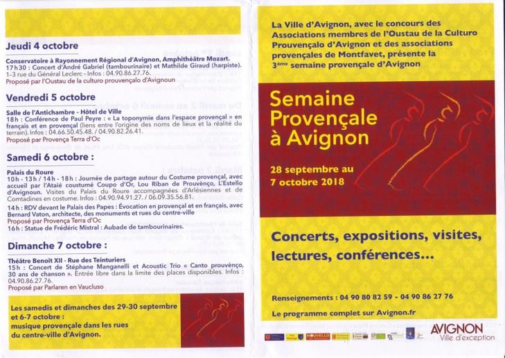 La Setmana provençala comença lèu en Avinhon