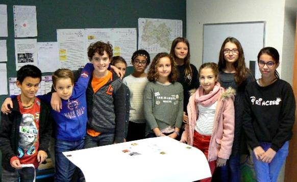 Les élèves de sixième à Nyons  (photo VP DR)