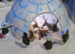 Crèche d'inspiration nordique à Arles, en 2009 (photo MN)