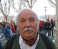 Un militant. Ici lors de la manifestation pour l'occitan dans la vie publique, à Béziers en mars 2007 (photo MN)