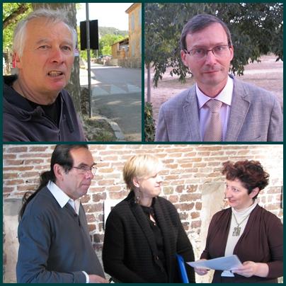 De g à d : Michel Bianco, Jean-Luc Domenge; en bas le trio Trelutz (photo MN)