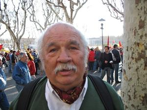 Pèire Pessemessa en 2007 a Béziers. Li devem un documentàri sus Jorgi Reboul (photo MN)