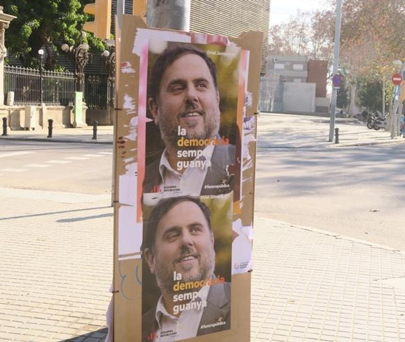 Vice Président de la Generalitat de Catalunya, Oriol Junqueras est emprisonné depuis un an et actuellement jugé à Madrid pour Rébellion, Sédition, Malversation. Un écran de fumée pour juger son activisme pacifique pour l'indépendance (photo MN)