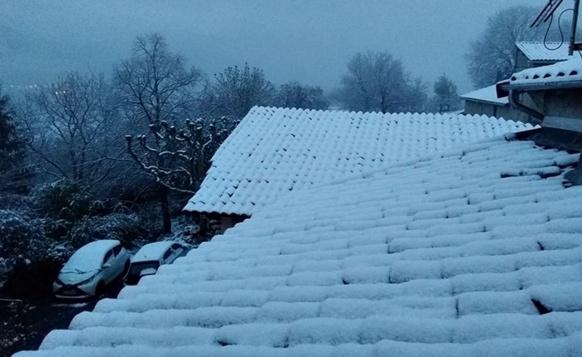 Vallée du Buech, ce jeudi matin, de très bonne heure (photo VL DR)