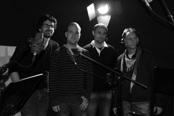 Benjamin Melia, Valentin Conte, Florian Mesureux et Sébastien Bourelly à l'assaut du XXIè siècle armé d'une flûte, d'un tambour, et d'une conscience des nécessités d'évolution musicales (photo XDR)