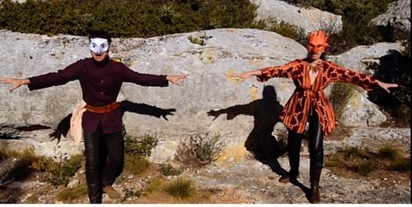 """Image du clip """"Lo pantaï de Palheira"""", ou comment poétiser l'hallucination d'un témoin qui croit avoir vu la transformation d'un loup garou (photo Indémo DR)"""