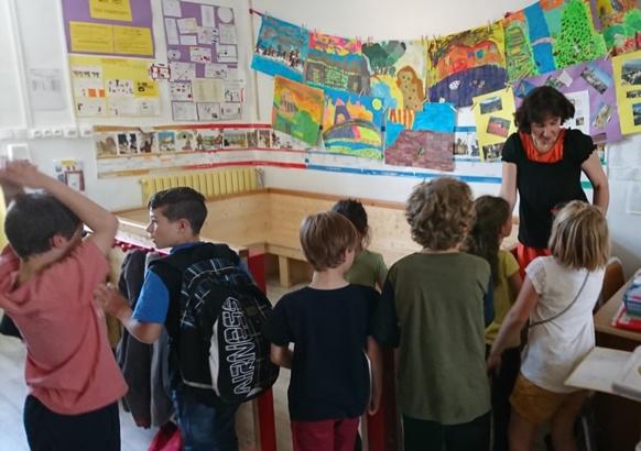 La classe élémentaire de la Calandreta Gapiana en 2017 (photo MN)