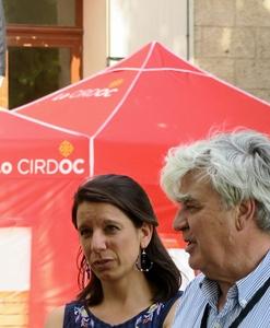 Estelle Ceccarini et Martin Paul, les Rescòntres concoctés dans l'urgence ont rassemblé. Succès prometteur ? (photo MN)