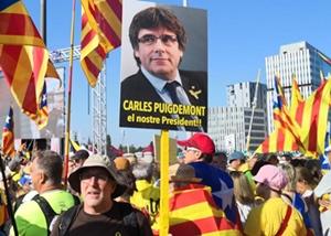 Il reste le président légitime des Catalans, et devient le symbole de l'affaiblissement des valeurs démocratiques de l'Europe (photo ANC DR)