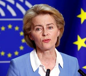 Ursula von der Leyer, la présidente de la Commission Européenne, est elle-même trilingue : allemand, français, anglais (photo UE DR)