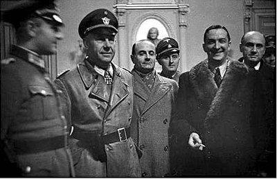 René Bousquet, à droite, avait organisé la rafle pour le compte des Allemands. La destruction du Vieux Port pourrait avoir été ordonnée pour faciliter une opération immobilière ultérieure (photo XDR)