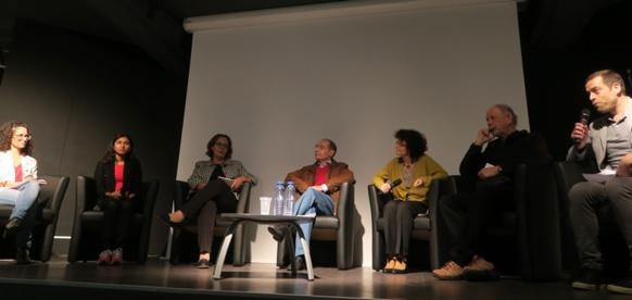 Novembre 2018 à Nice, table ronde sur les conditions de l'enseignement de la langue régionale : un constat général, la politique de l'Etat est linguicide (photo MN)