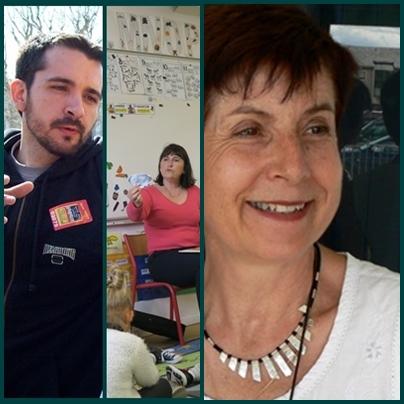 De g à d : Yann Lespoux (pdt), Marie-Françoise Lamotte (vice pdte), Marie Jeanne Verny (sec.)