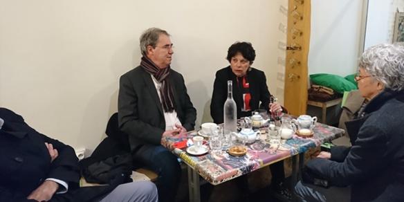 Janvier 2018 à Marseille, la députée Européenne EELV Michèle Rivasi s'informe de la situation de la démocratie en Espagne, en Catalogne en particulier (photo MN)