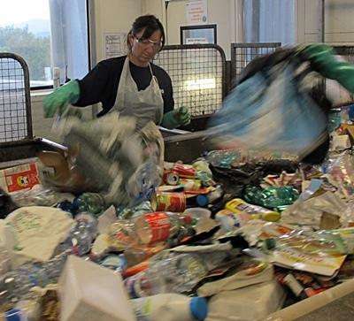 Au centre Pizzorno du Muy, 400 tonnes de plastique pourraient être recyclés chaque année (photo MN