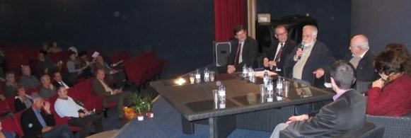 """En 2011 le Colloque bisannuel de l'Aeloc était consacré à """" l'enseignement de la langue d'oc et le développement durable"""" (photo MN)"""