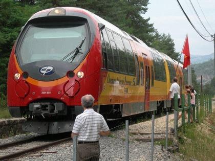 Ici à l'étape d'Annot. La fréquentation du Train des pignes est en hausse (photo Baquié IEO06)