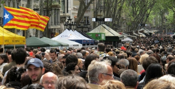 Un million et demi de Catalans ont manifesté (photo MN)