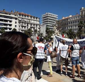 A Toulon le rassemblement hebdomadaire a été plus fourni (photo PJ DR)