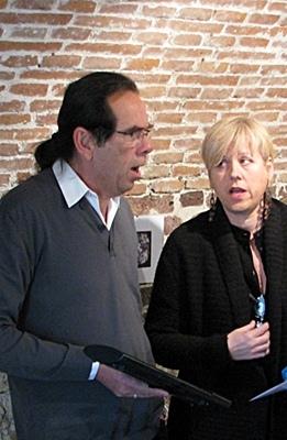 Miquèu Tournan et Patricia Jouve chantent déjà ensemble dans le groupe vocal Trelutz (photo MN)