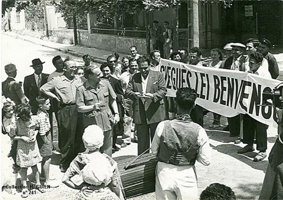 Jorgi Reboul après guerre à Allauch. L'animateur de la vie occitane aurait mérité d'être cité (photo XDR)