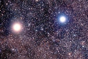 Découverte en octobre 2011, notre plus proche voisine connue est une planète située à quatre années lumière, dans un système tournant autour d'une étoile double (photo XDR)