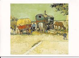 Van Gogh,  Les roulottes, campement de bohémiens aux environs d'Arles, fin du XIXè siècle, Musée d'Orsay