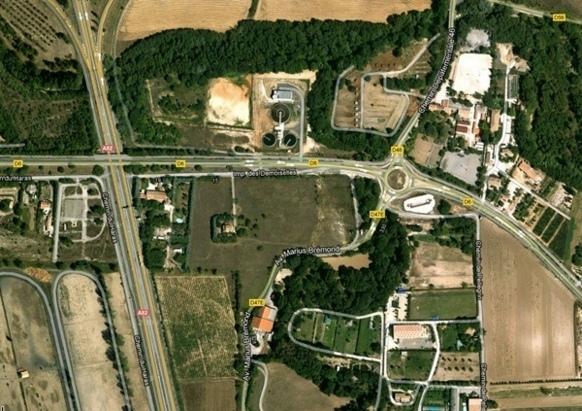 Les lieux de la future aire d'accueil à Fuveau (XDR)