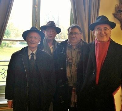 Le groupe de personnalités occitanistes à l'Elysée le 14 novembre (photo XDR)