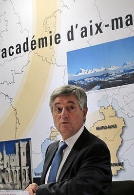Le nouveau recteur d'Académie Bernard Dubreuil vient de présider son premier CALR (photo MN)